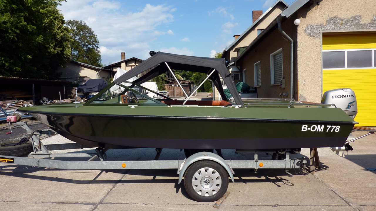 Lotos 2 Motorboot nach Sanierung & Umbau